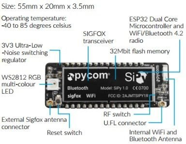 Módulo Pycom SiPy: integra Sigfox, WiFi e Bluetooth no mesmo item