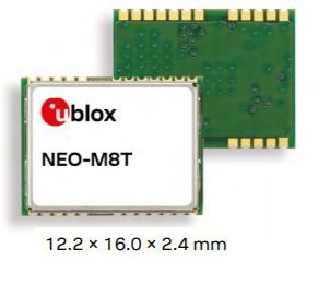 Receptor GNSS GPS Glonass para sincronismo de relógio e raw data - NEO-M8T