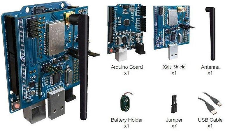 Kit de desenvolvimento Sigfox com módulo Wisol, placa Arduino e sensores (XKIT1-2)