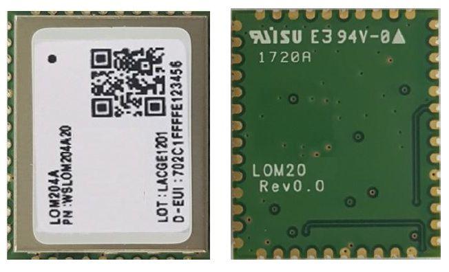 Modem LoRa para rede publica LoRaWAN - Wisol LOM204A-BR00