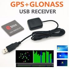 Receptor GNSS (GPS / Glonass) com conector USB e cabo de 1,5M - GNSS-UBX-M8-USB_TYPE_A_MALE-1_5M
