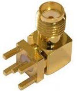 Conector SMA(F) 90 graus PTH - CON-SMAF-RA-PTH-JS