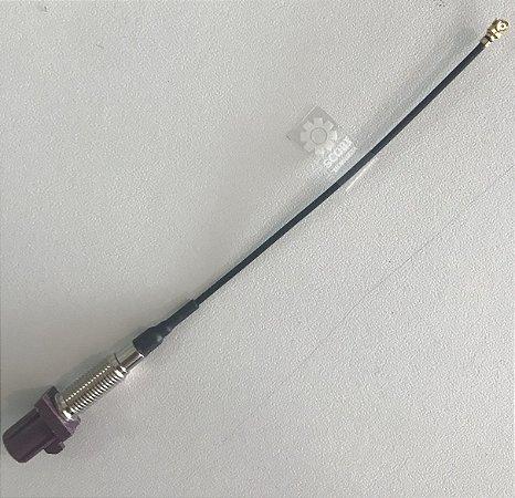 Pigtail com conectoes Fakra (code D) violeta <-> uFL comprimento 95mm - CAB95MM-D132-FAKRASMBST-CODED-UFL-JS
