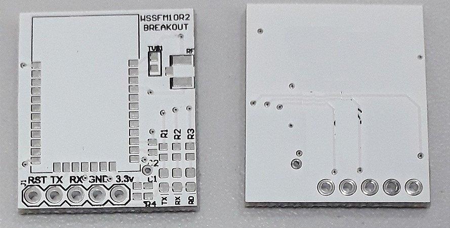placa breakout para testes do Sigfox WSSFM11R2DAT