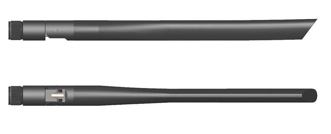 Antena 4G amplo espectro, articulada, conector SMA(M) - AN4GWIDE-ART-SMAM-JS