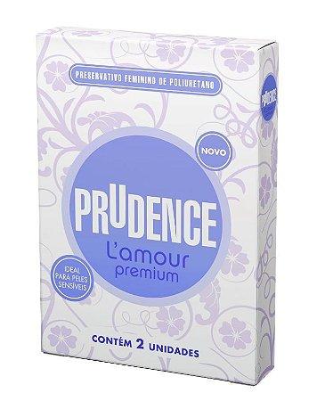 Preservativo Feminino - Prudence L amour Premium ou Della 2x unidades
