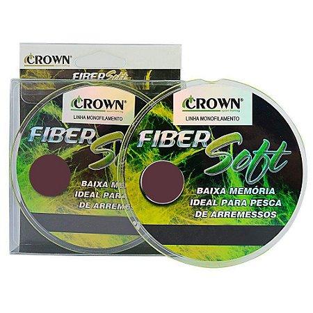 Linha de Pesca Crown Fiber Soft Monofilamento Amarelo 0,31mm 19Lbs 250m