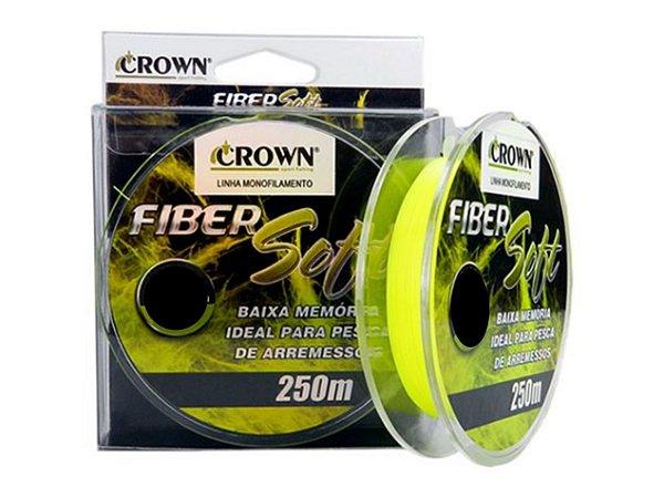 Linha de Pesca Crown Fiber Soft Monofilamento Amarelo 0,40mm 32Lbs 250m