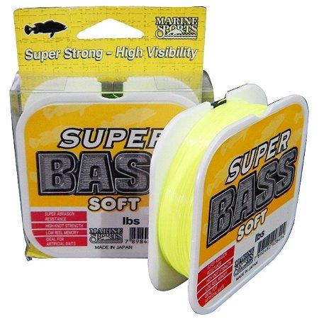 Linha Super Bass Soft Monofilamento Amarelo 0,33mm 17Lbs - 250 Metros
