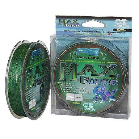 Linha Multifilamento Max Force 8x 150m - 0,27mm