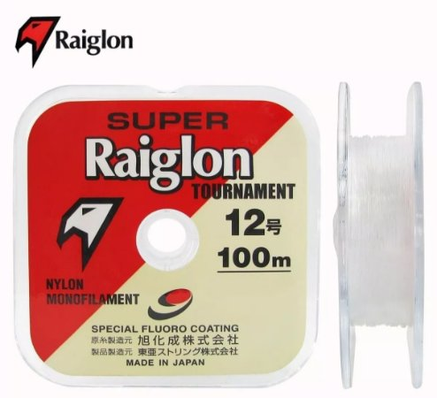 Linha Monofilamento Super Raiglon 0,33mm 4.0 100m Branca