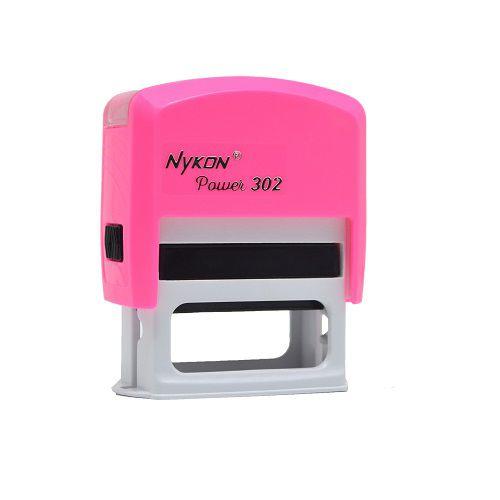 Carimbo Automático Personalizado Nykon Rosa