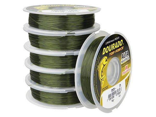 Linha Araty Dourado Top Force 0,40mm Verde Oliva