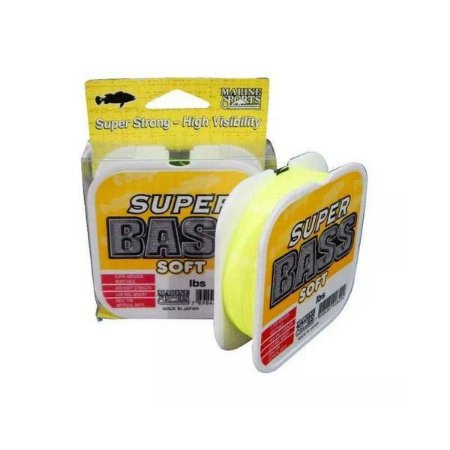 LINHA MARINE SPORTS SUPER BASS (YELLOW) 21 lbs 0,37mm 250m -