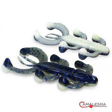 Isca Soft Camalesma Salamareca Cor Osso / Black Blue 9,5cm