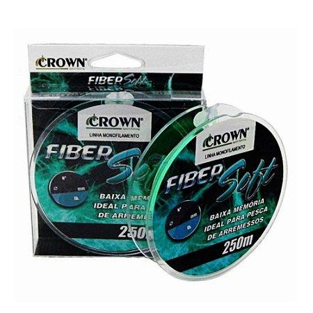 Linha de Pesca Crown Fiber Soft Monofilamento Verde 0,40mm 32Lbs 250m