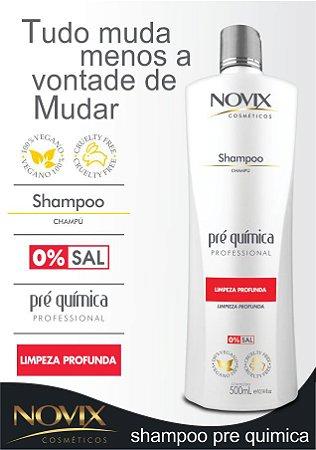 SHAMPOO PRÉ QUÍMICA NOVIX PROFISSIONAL 500ML