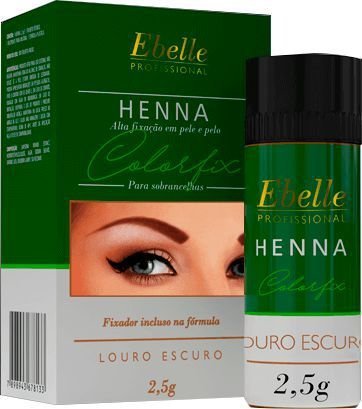 HENNA SOBRANCELHA LOURO ESCURO CX COM 12 UNIDADES