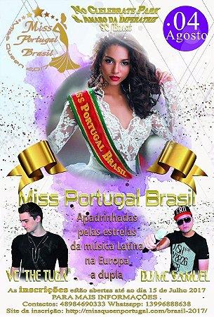 CONVITES MISS PORTUGAL BRASIL/ MISS BRASIL PLUS SIZE - ETAPA FLORIANÓPOLIS