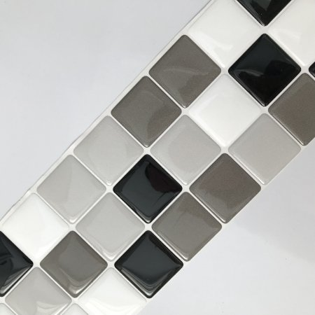 Pastilha Adesiva Resinada TONS DE CINZA 28 x 9 cm
