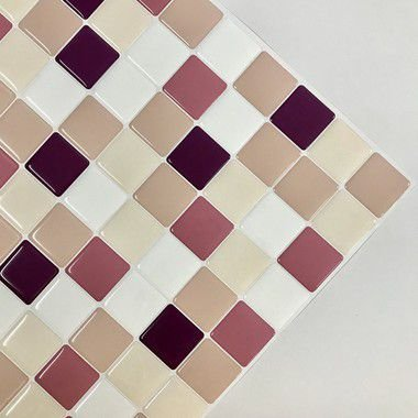 Pastilha Adesiva Resinada SORVETE DE AMORA 28 x 28 cm