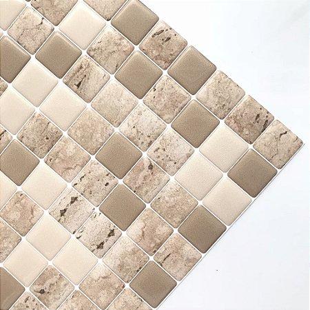 Pastilha Adesiva Resinada MARMORE TRAVERTINO 20 x 20 cm