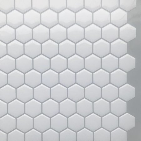 Pastilha Adesiva Resinada HEX WHITE