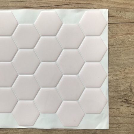 Pastilha Adesiva Resinada LARGE HEX LIGHT PINK
