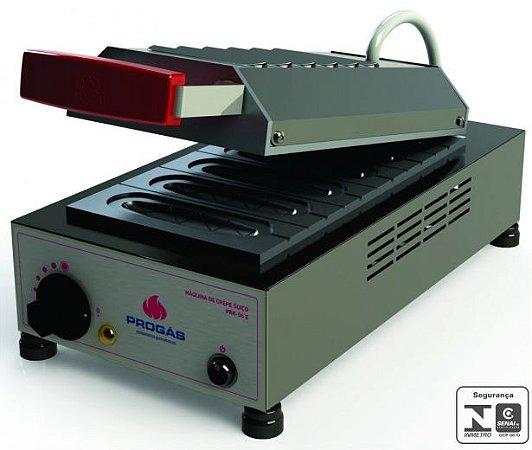 Máquina de Crepe Elétrica 6 Cavidades - 220V - PRK-06 - Progás