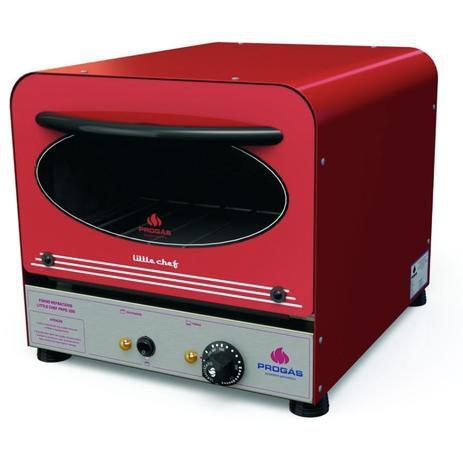 Forno Elétrico Refratário Little Chef 25 Litros 220V – PRPE-200 Vermelho - Progás