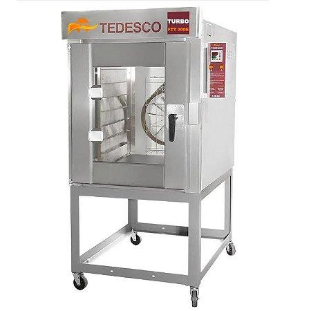 Forno Turbo 10 Esteiras  para Pão FTT-300E  Tedesco - Elétrico 18600w Com Cavalete