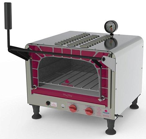 Forno a Gás Refratário Mini Chef 40 Litros com Pedra PRP-400