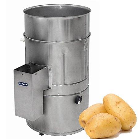 Descascador de Batata Inox 10kg Automático Metvisa DB.10