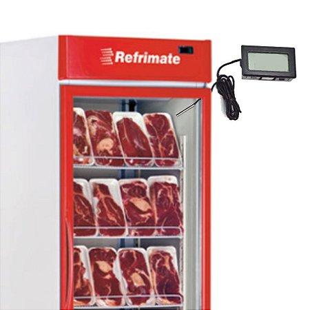 Kit c/ 2 Termômetros Digital  P/ Freezer e Geladeira com fio