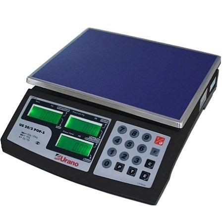 Balança comercial digital Urano US POP-S 20kg Biv Bat. Preto