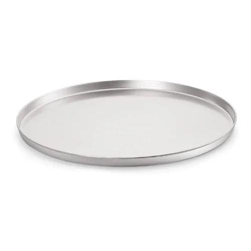Forma de pizza 35 cm em alumínio - assadeira com borda alta