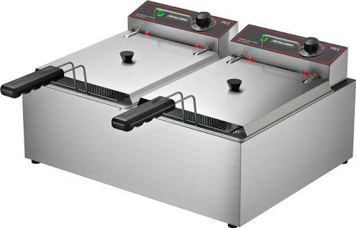 Fritador Elétrico 10 Litros - 2 Cubas 220V - FRCE10 - Metalcubas