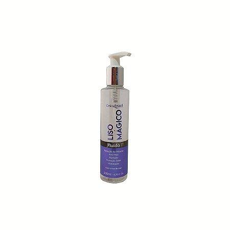 Liso Mágico - 200 ml, Fluído altamente hidratante e doador de brilho, aumenta a duração da sua escova e chapa efeito guarda chuva. Impede que a umidade alcance os fios, é anti frizz, retira porosidade dos fios sem química!