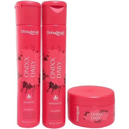 Kit Completo Onixx  Daily - Shampoo + Hidratação + Mascara - Previne a quebra e a queda dos cabelos