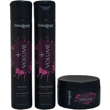 Kit Completo Mais Volume - Shampoo + Condicionador + Mascara - Promove mais volume, hidratação e nutrição