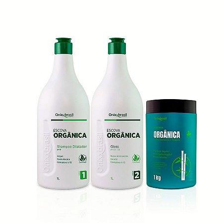 PROMOÇÃO - Escova Progressiva Orgânica ,Alisamento sem agressão aos fios e nem ao meio ambiente; Mais uma mascara orgânica de tratamento de 1 kg