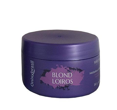 Mascara de tratamento , linha Blond , cabelos loiros , com química ou grisalhos, pote com 250 g