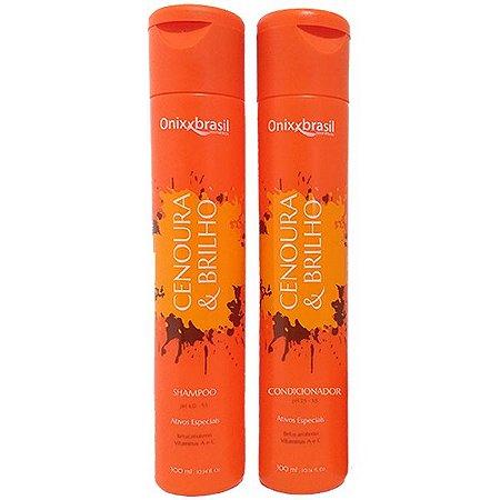 Cenoura e Brilho 300ml - Shampoo + Condicionador - rico em vitaminas A, C e Betacaroteno