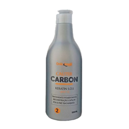 Keratin SOS Cauter Carbon - queratina - tratamento de reconstrução capilar pré e pós tratamento