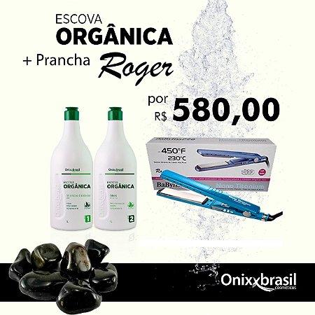 SUPER PROMOÇÃO - Escova Orgânica ( Shampoo + Gloss) OnixxBrasil + Prancha Babyliss By Roger Original