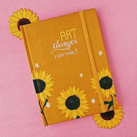 "Sketchbook Girassóis ""Art Changes Everything"""