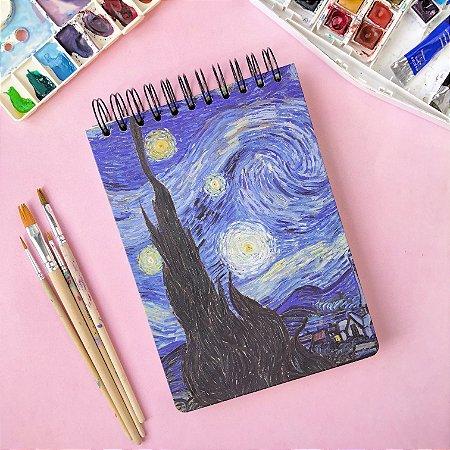Sketchbook Noite Estrelada - Papel aquarela 250g