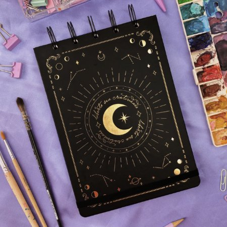 Sketchbook Fases da Lua - Papel aquarela 200g