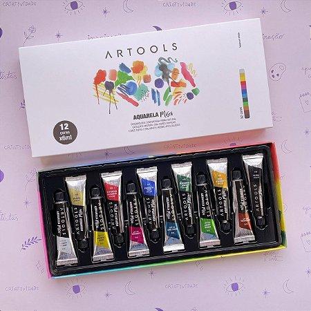 Aquarela Artools Misci 12 cores em bisnaga