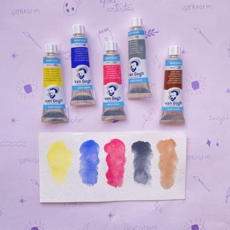 Kit Aquarela Van Gogh em bisnaga 5 cores básicas